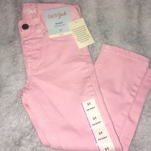 Cat and Jack pink skinny jeans